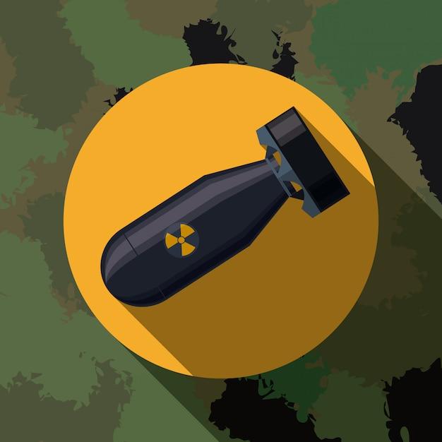 Conception des forces militaires. Vecteur Premium