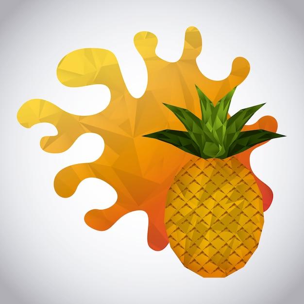 Conception de fruits abstraites, illustration vectorielle eps10 graphique Vecteur Premium