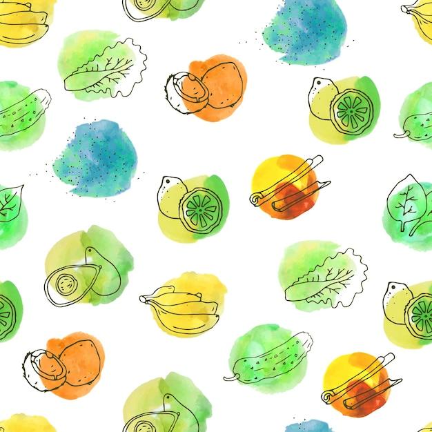 Conception Fruits De Motif Vecteur gratuit