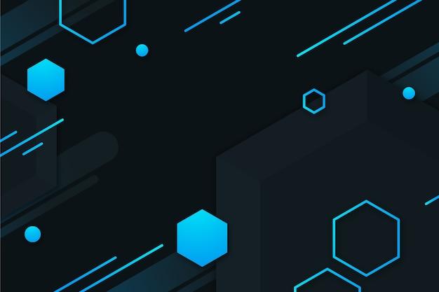 Conception Géométrique Dégradée Avec Hexagones Vecteur gratuit