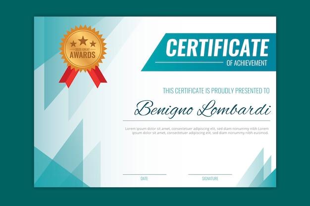 Conception Géométrique Pour Le Modèle De Certificat Vecteur gratuit