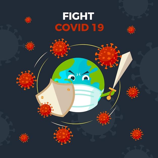 Conception De Globe De Coronavirus Vecteur gratuit