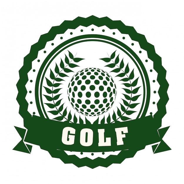 Conception de golf Vecteur Premium