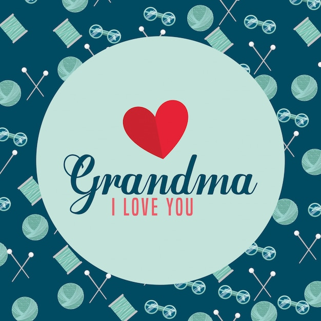 Conception des grands-parents Vecteur gratuit