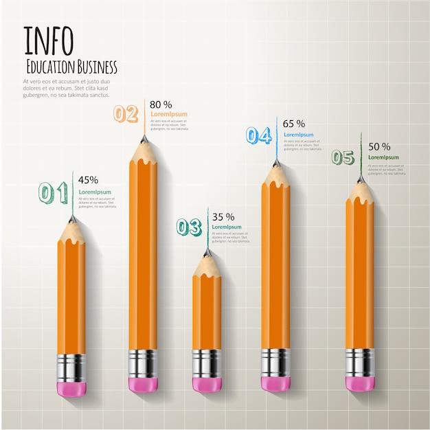 Conception graphique d'éléments inforaphic créatifs. Vecteur Premium