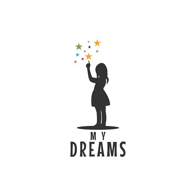 Conception graphique d'icône de pointage enfant étoiles Vecteur Premium