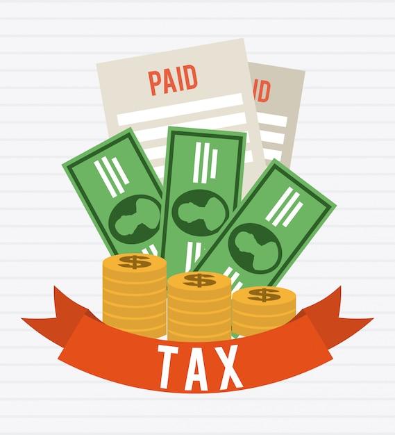 Conception graphique des taxes Vecteur gratuit