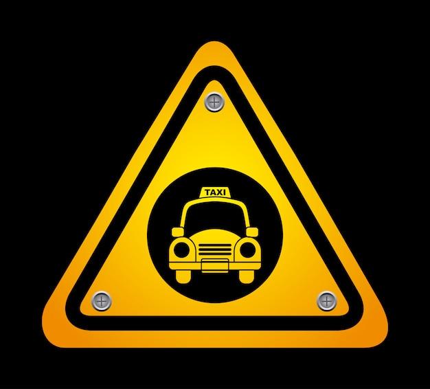 Conception graphique de taxi Vecteur gratuit