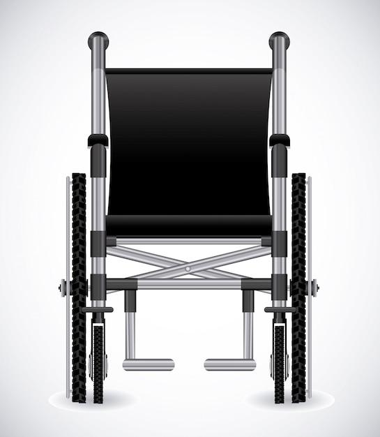 Conception handicapée Vecteur Premium