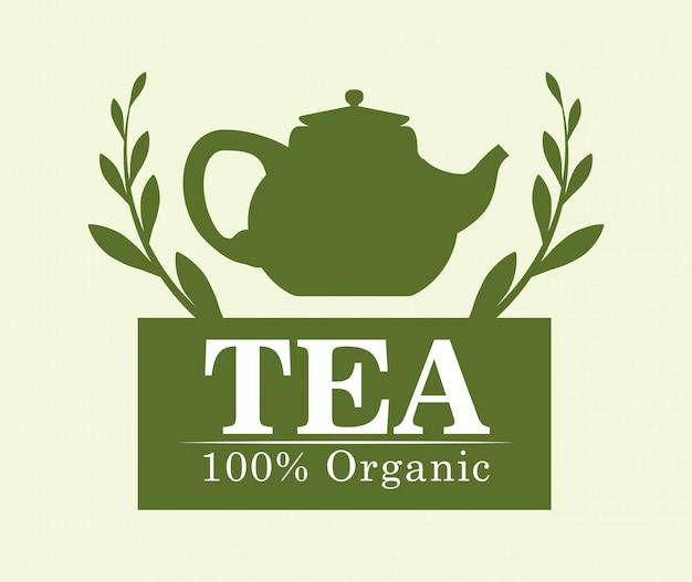 Conception de l'heure du thé Vecteur Premium