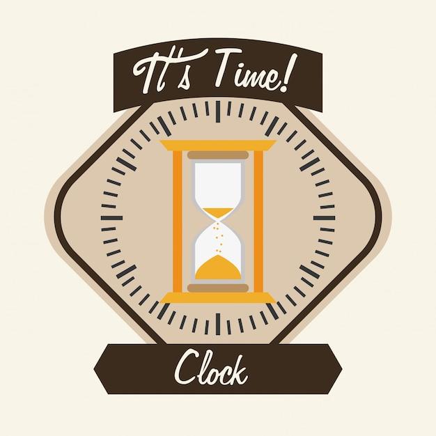Conception d'horloge Vecteur Premium