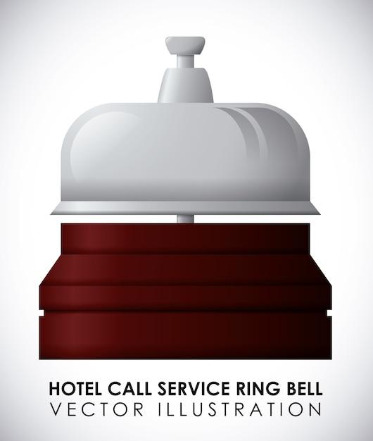 Conception de l'hôtel sur l'illustration vectorielle fond blanc Vecteur Premium