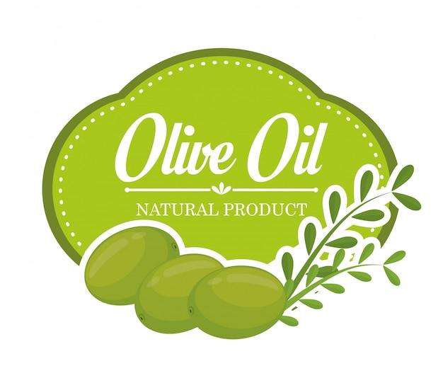 Conception à l'huile d'olive. Vecteur Premium