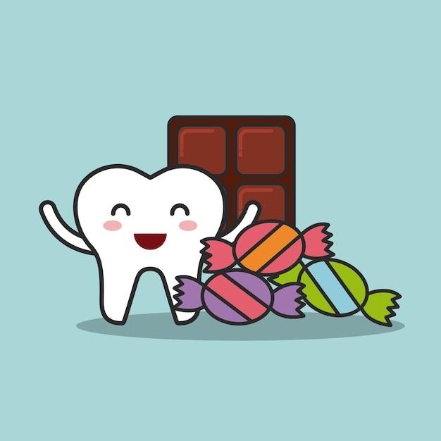 Conception de l'hygiène dentaire, illustration vectorielle eps10 graphique Vecteur Premium