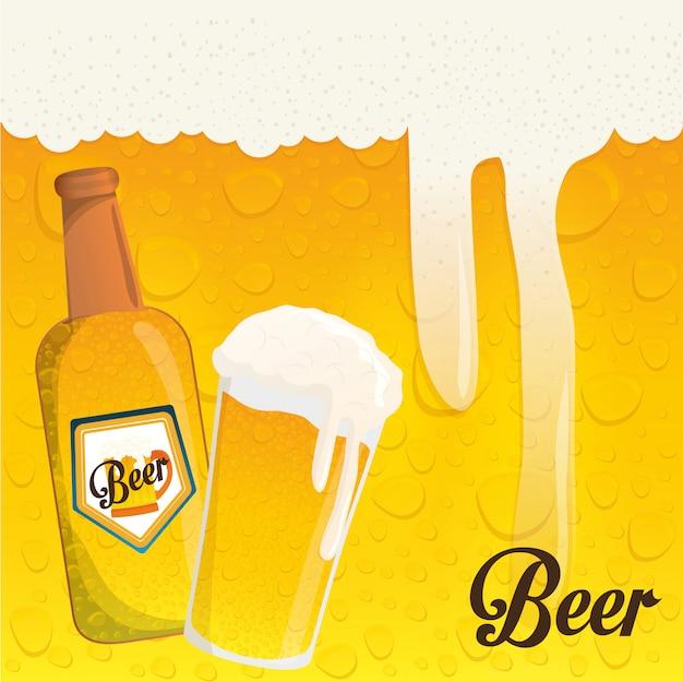Conception d'icône de bière Vecteur Premium