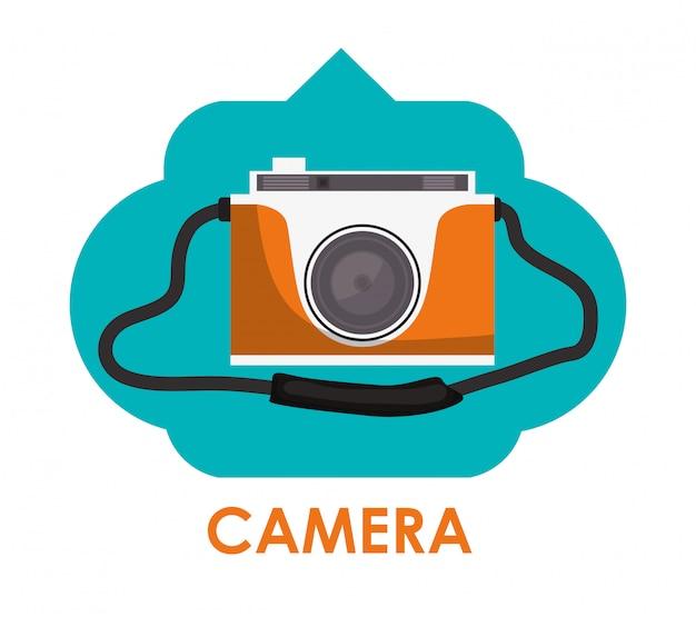 Conception d'icône de caméra Vecteur Premium