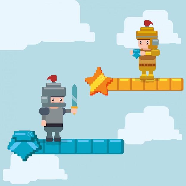 Conception d'icône de jeu vidéo Vecteur Premium