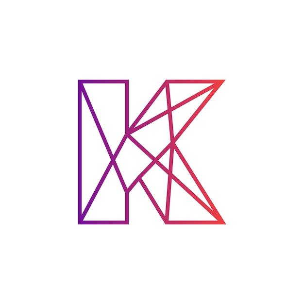 Conception d'icône de lettre k alphabet   Télécharger des ...