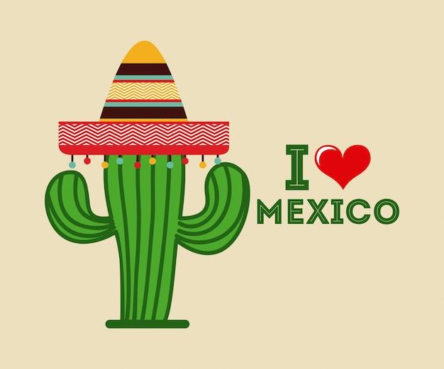 Conception d'icône mexicaine Vecteur Premium
