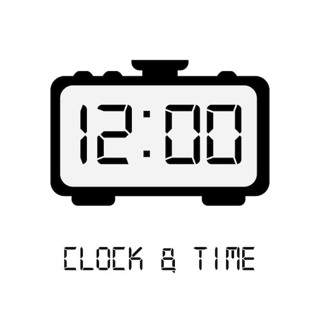 Conception de l'icône de temps Vecteur Premium