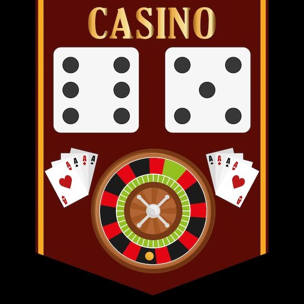 Conception d'icônes de casino Vecteur Premium