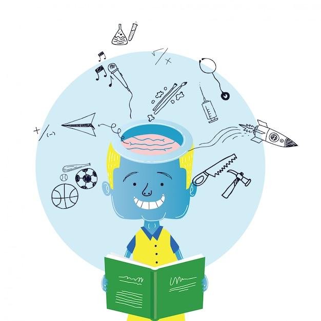 Conception d'illustration enfants Vecteur Premium