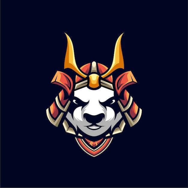 Conception D'illustration De Panda Samurai, Logo Esport. Vecteur Premium