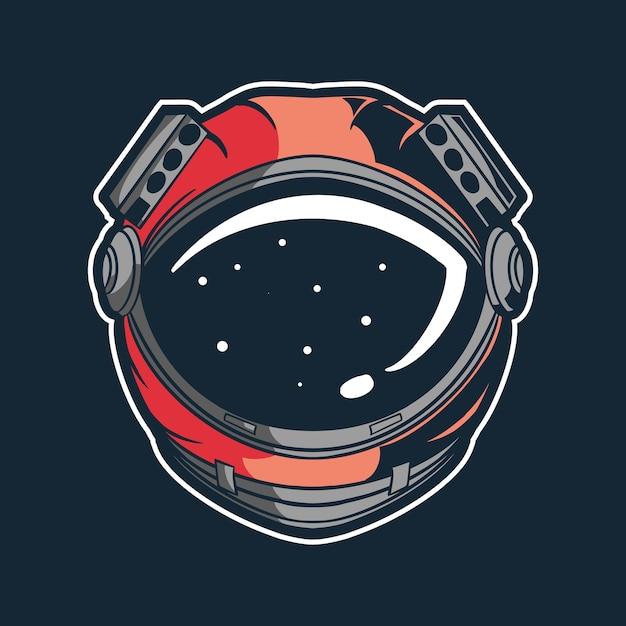 Conception D'illustration Vectorielle Casque Astronaute Vecteur Premium
