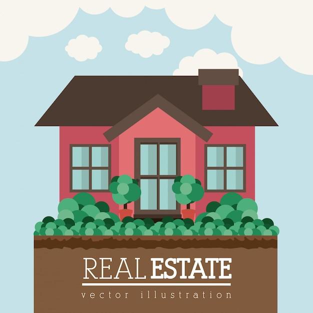 Conception immobilière Vecteur Premium