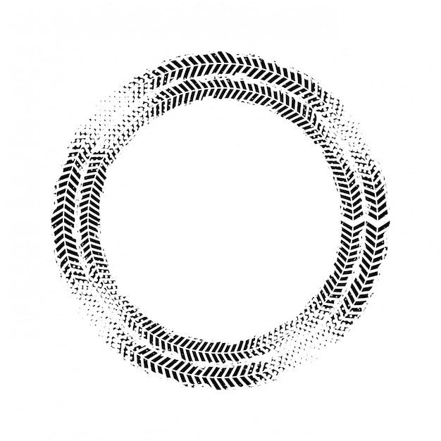 Conception d'impression de roue Vecteur Premium