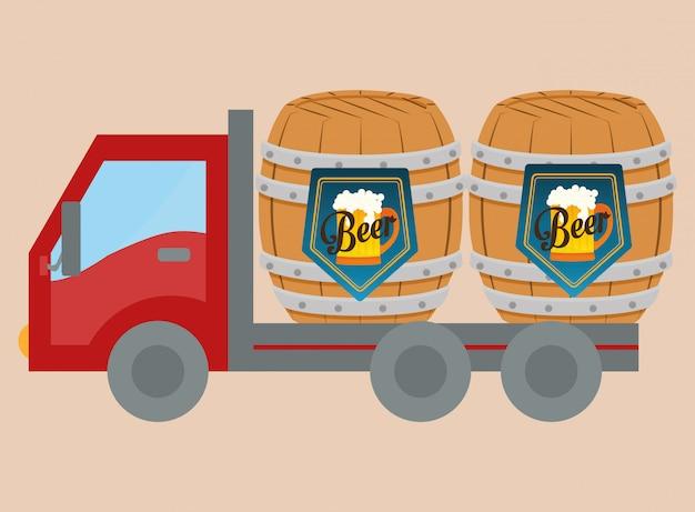 Conception de l'industrie de la bière Vecteur Premium