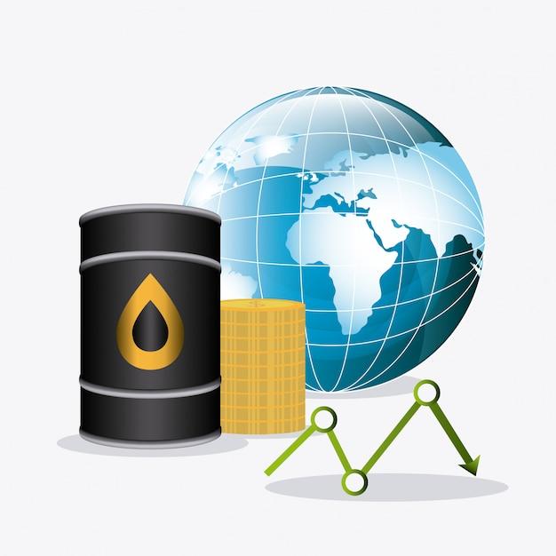 Conception de l'industrie pétrolière. Vecteur gratuit