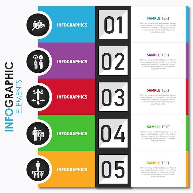 Conception d'infographie colorée de vecteur Vecteur gratuit
