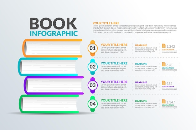 Conception D'infographie Livre Dégradé Vecteur gratuit