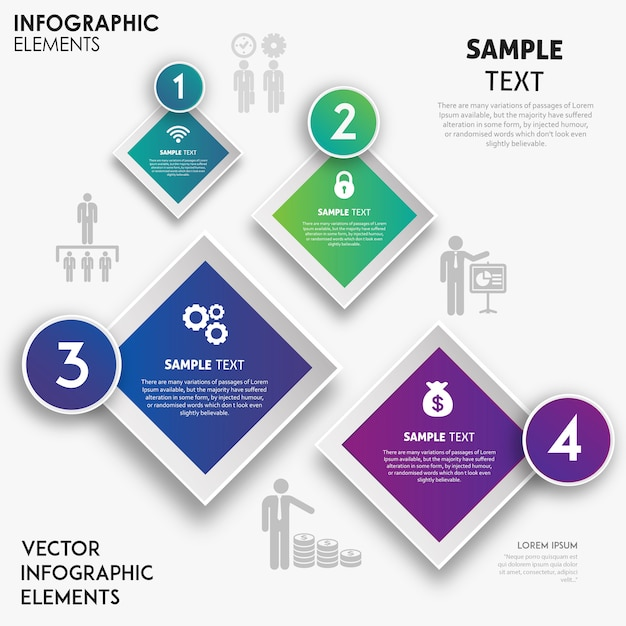 Conception d'infographie vecteur coloré Vecteur gratuit