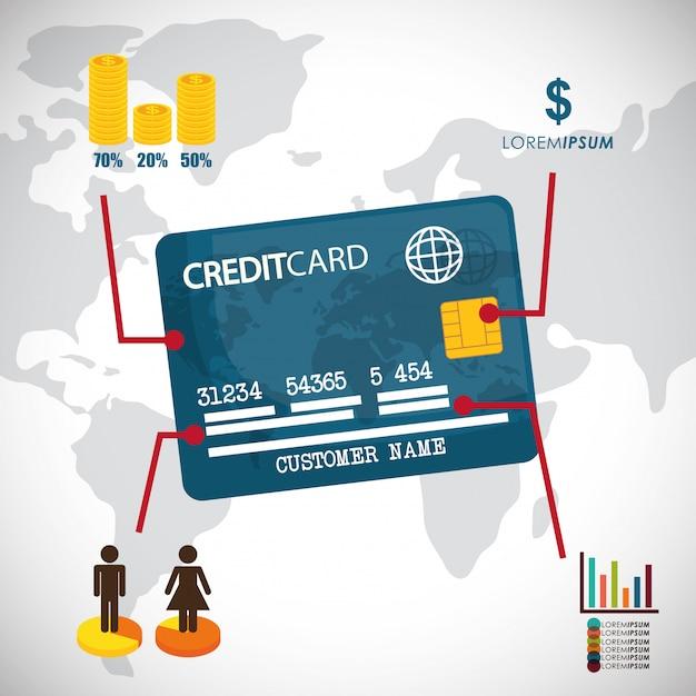 Conception infographique de l'argent. Vecteur Premium