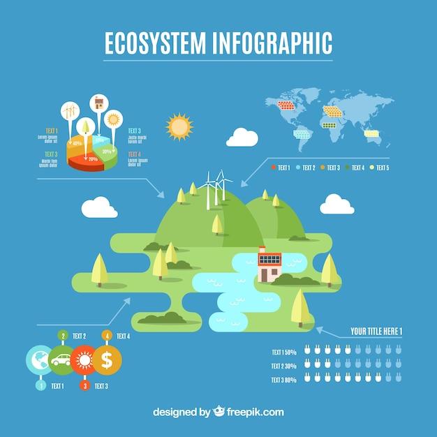 Conception infographique de l'écosystème Vecteur gratuit
