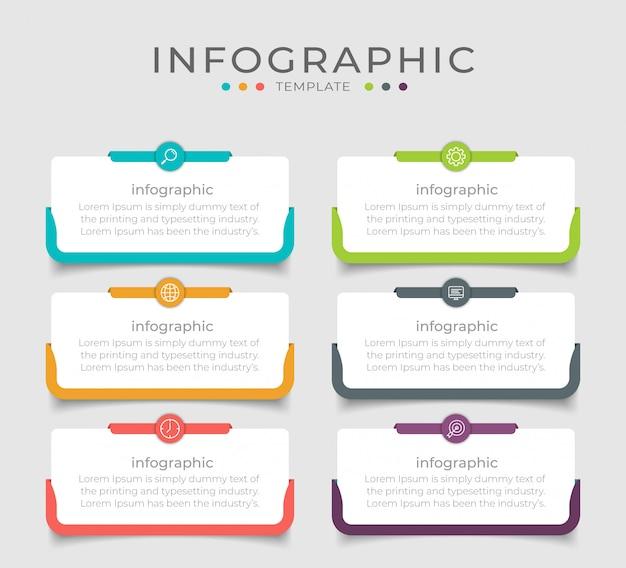 La Conception Infographique D'entreprise Peut être Utilisée Pour La Mise En Page Du Flux De Travail, Le Diagramme, Le Rapport Annuel. Vecteur Premium