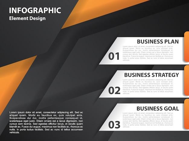 Conception infographique avec fond géométrique Vecteur Premium