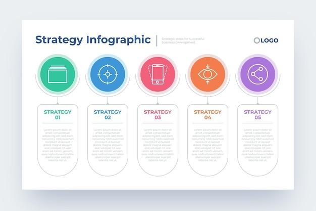 Conception Infographique De Stratégie D'entreprise Vecteur gratuit