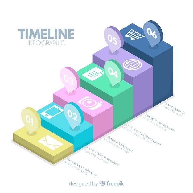 Conception infographique de la timeline Vecteur gratuit