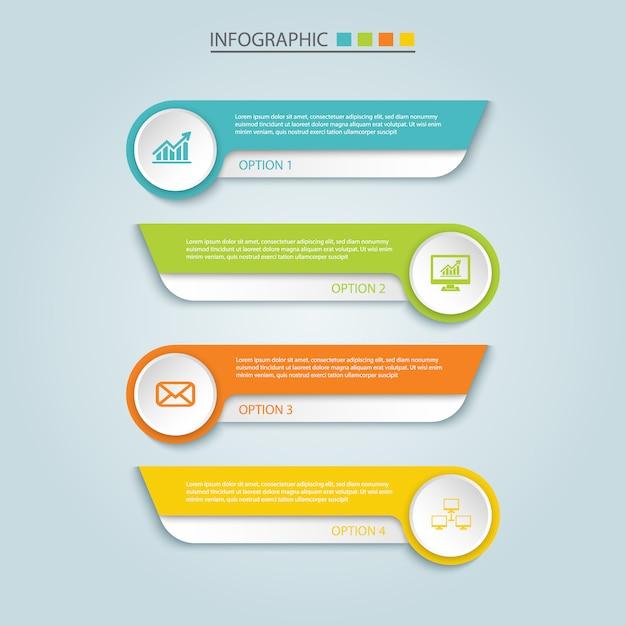 Conception infographique Vecteur Premium