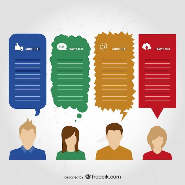 Conception De L'information De La Communication Vecteur gratuit