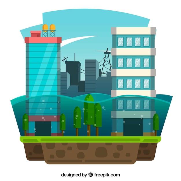Conception d'inondation Vecteur gratuit