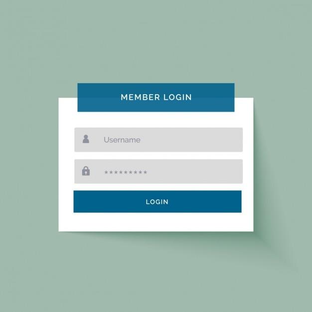 La conception de l'interface utilisateur membre de connexion de style sticker plat Vecteur gratuit