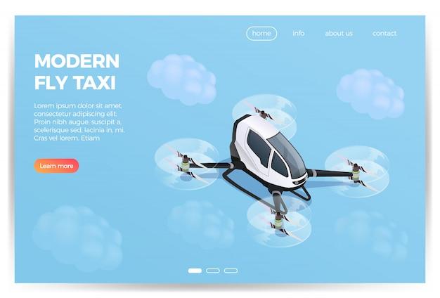 Conception Isométrique De Quadrocopter Transport Vecteur gratuit