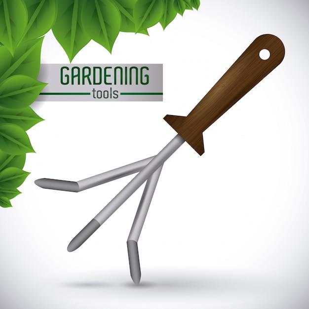 Conception de jardinage. Vecteur Premium