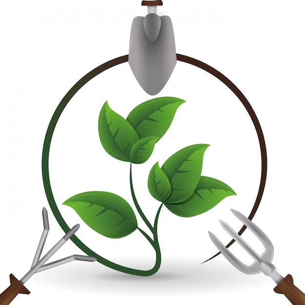 Conception de jardinage Vecteur Premium