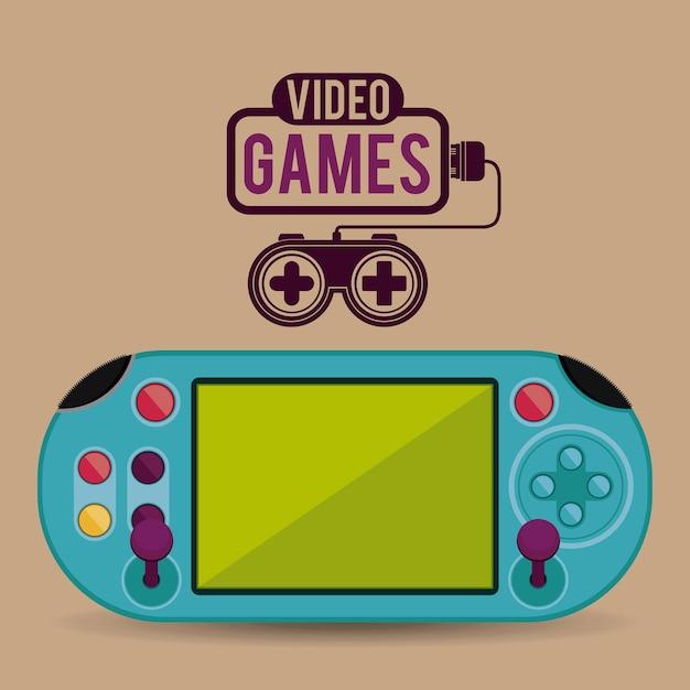 Conception de jeux vidéo Vecteur Premium