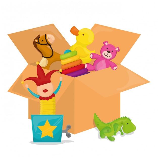 Conception de jouets pour bébé. Vecteur Premium